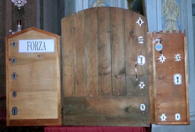 La porta con le cinque serrature, che ci accompagnerà nel percorso quaresimale verso la Pasqua