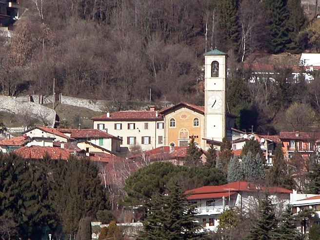 Chiesa di Ponzate vista da Lipomo