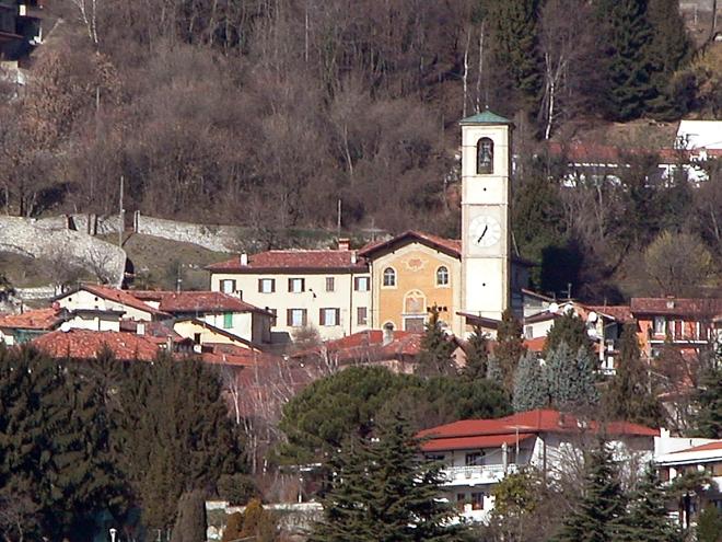 Chiesa di Ponzate vista da Lipomo