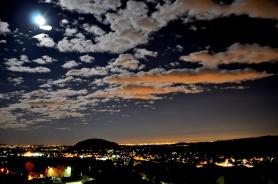 Visione notturna da Ponzate sulle luci delle pianura...